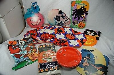 $ CDN18.87 • Buy Lot Halloween Party Supplies Decorations Place Mats Table Cover Plates Unused
