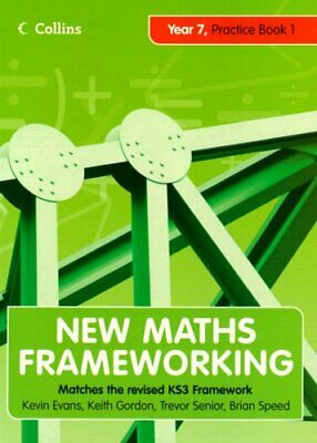 New Maths Frameworking �  Year 7 Practice Book 1 (... By Speed, Brian Paperback • 5.99£
