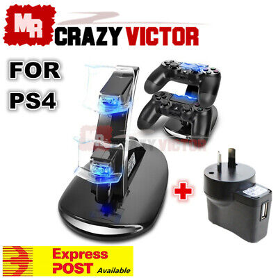 AU22.95 • Buy Wall USB Dual Charger Dock Charging Stand For Sony PS4 Playstation 4 Controller
