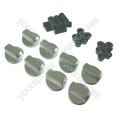 8 X Stoves New World & Belling Cooker Oven Hob Silver Control Knobs • 9.99£