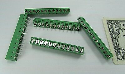 $11.99 • Buy 5 Tyco 12-Position Wire To Board Connector Terminals PCB 1-282837-2 .200  5.08MM
