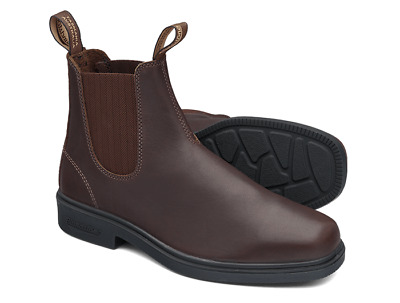 AU116.37 • Buy Blundstone Brown Thoroughbred LEATHER Elastic Side Non Safety Boot - V Cut (659)
