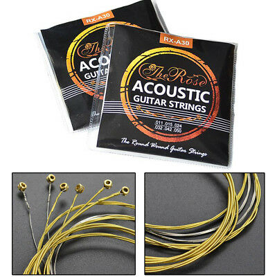$ CDN7.69 • Buy Set Of 6 Acoustic Classic Steel Guitar Strings Light Gauge Replacement UK Stock
