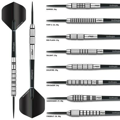 Tungsten Darts Set 22gram,23g,24g,25g,26g,27g,28g,30g Flightmasters Knurled Grip • 19.95£