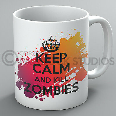 £10.99 • Buy Keep Calm And Kill Zombies Mug Zombie Resident Evil The Walking Dead Undead Gift