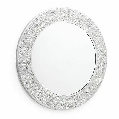 Silver Mosaic Mirror. Wall Mounted Mirror. High Shine Crackle Effect 40 X40cm  • 19.99£
