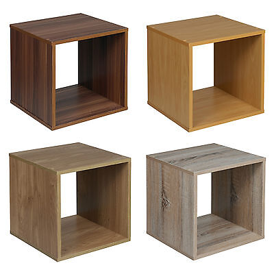 Wooden Bedside Bookcase Shelving Display Storage Wood Shelf Shelves Cube Cabinet • 8.99£