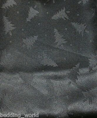 Fir Tree Black Table Cloths Dots Xmas Dinner Party Festive Christmas Occasions • 5.54£