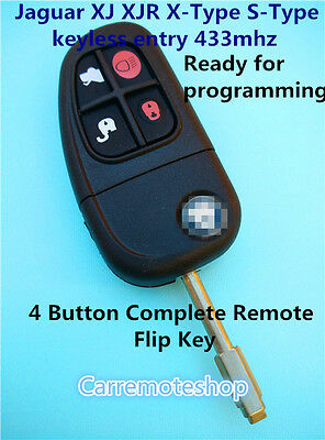AU53 • Buy Jaguar XJ X-Type S-Type XJ XK 4 Buttons Complete  Flip Remote Key Ready For Code