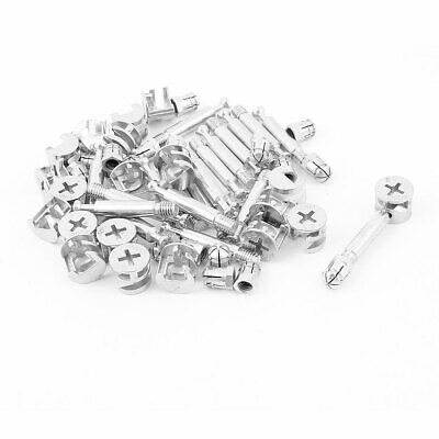 Knock Down Furniture Cam Lock Fitting Dowel Assembly 20 Sets • 12.66£