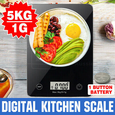 AU22.49 • Buy 5KG/1g Digital Kitchen Scales Electronic Weight Scale Food Fruit Meat Postal New