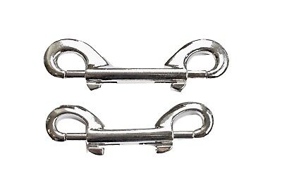 £2.49 • Buy Double End Trigger Clips Metal Snap Hook Key Chains And Luggage 8cm And 10cm