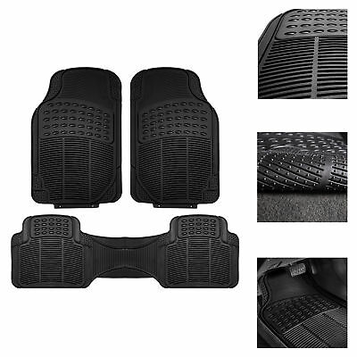 $29.99 • Buy Car Floor Mats, All Weather Rubber Tactical Fit Heavy Duty Black - 3 Pc Set