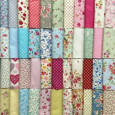 £3.55 • Buy 50 Or 100 PATCHWORK SQUARES QUILTING FABRIC  100% COTTON 10cm