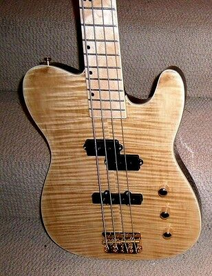 $498 • Buy Alchemy Guitar Werks UNIQUE  Telepath  BASS Flamed, Set Neck  PRICE REDUCED!