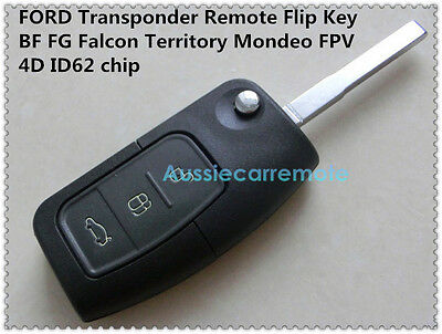 AU22 • Buy FORD 3 Button Transponder Remote Flip Key For BF FG Falcon Territory Mondeo FPV
