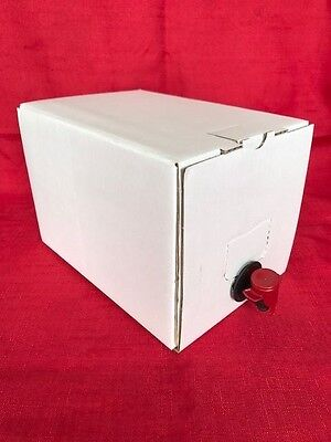 5 Litre Bag In A Box Wine/Beer/Cider Storage Homebrew Plain White Boxes (1-10) • 9.25£