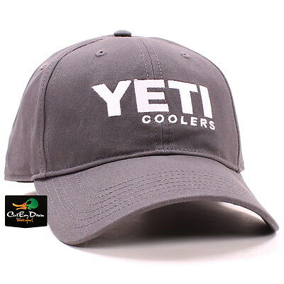 Yeti Coolers Full Panel Hat Cap Gunmetal Gray With Embroidered Logo • 14.98£