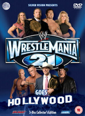 WWE: Wrestlemania 21 DVD (2005) Triple H Cert 15 3 Discs FREE Shipping, Save £s • 3.72£