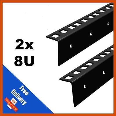 2 X 8U 19 INCH RACK STRIP -  FLIGHT CASES  | SOLD IN PAIRS  • 9.80£
