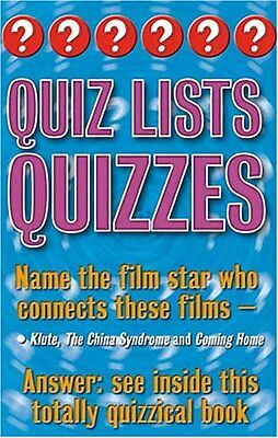 £1.90 • Buy Quiz Lists Quizzes: Three Of A Kind (Categorical Quizzes) By Christopher Rigby