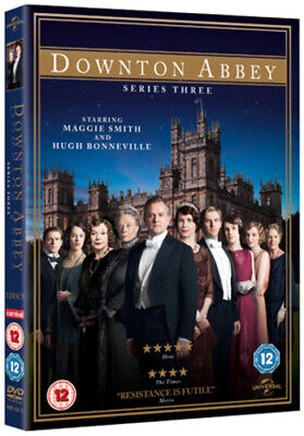Downton Abbey: Series 3 DVD (2012) Maggie Smith Cert 12 3 Discs Amazing Value • 2.34£