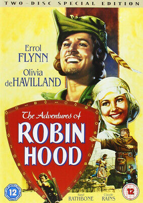 The Adventures Of Robin Hood DVD (2004) Errol Flynn, Curtiz (DIR) Cert 12 2 • 2.29£