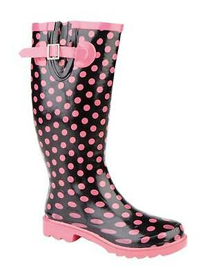 £10 • Buy Stormwell UKD Ladies Pink Spotty Gusseted Womens Welly Wellington W205A