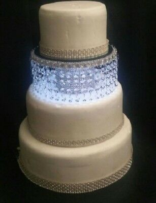 Crystal Wedding Cake Separator/stand -round / Square- Gold Or Silver Many Sizes • 60£