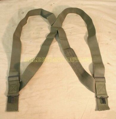 $4.60 • Buy M1950 Trouser Pant Suspenders Elastic OD Green US Military Surplus EXC