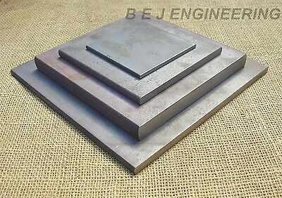 Mild Steel Plates - 100mm To 300mm Square - Fixing-Mounting - Black Flat Bar • 20.70£