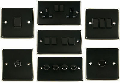 G&H Matt Black Light Switches, Plug Sockets, Toggle & Dimmer Switches • 11.95£