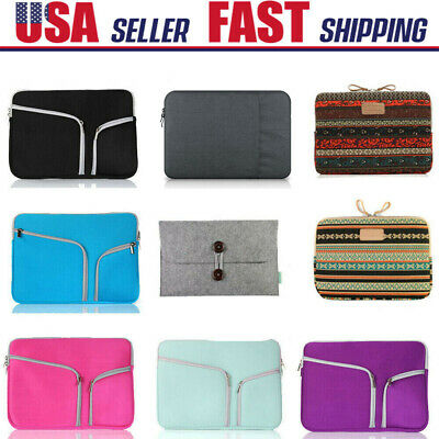 $7.99 • Buy 11 13.4 15.6 Inch Laptop Sleeve Case Bag Pouch Cover For MacBook Pro/Air Retina