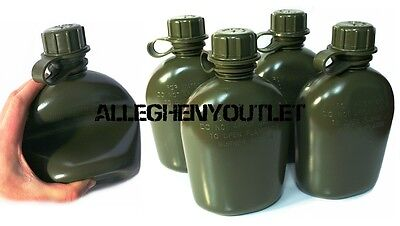 $ CDN17.47 • Buy 4 NEW US Military 1 Quart Plastic COLLAPSIBLE OD CANTEEN 1QT BPA FREE 4 PACK