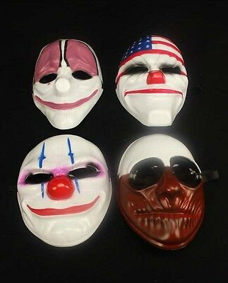 £8.99 • Buy Payday 2 Chains Dallas Wolf Hoxton Hockey Mask Fancy Dress Prop Halloween Mask