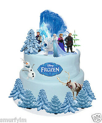 £4.20 • Buy Frozen Cake Party Set Stands Up Figures Toppers Wafer DIY 31Pcs Birthday Party