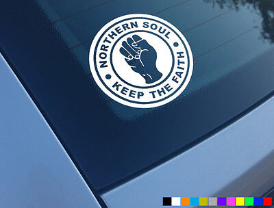 V2 NORTHERN SOUL KEEP THE FAITH CAR SCOOTER STICKERS VINYL DECALS LAPTOP MOTOWN • 2.48£