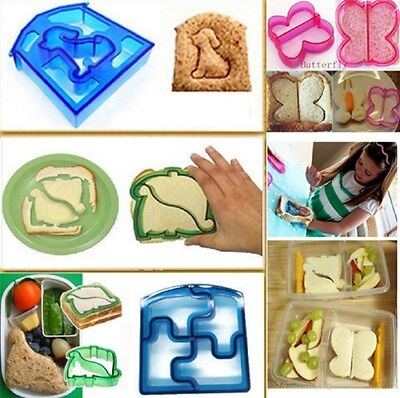 Kids Sandwich Cutter Mould Shape Children Dog Butterfly Dinosaur Animal Lunch • 3.95£