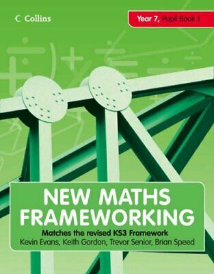 New Maths Frameworking - Year 7 Pupil Book 1 (Level... By Speed, Brian Paperback • 5.99£