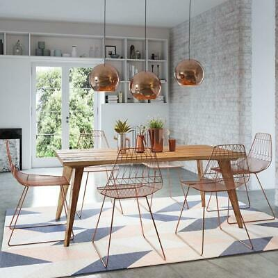 AU2490 • Buy Rustic Wooden Kitchen Dining Table 1.8m 4 To 6 Seater Solid Timber Top Natural