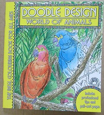 Doodle Design Pad - World Of Animals By Holland Publishing Paperback Book The • 8.99£