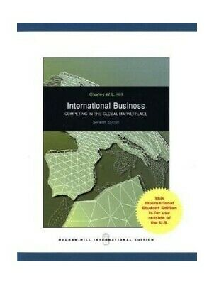 £5.49 • Buy International Business By Hill, Charles W. L. Paperback Book The Cheap Fast Free