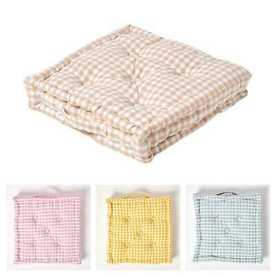 £14.99 • Buy Gingham Check Large Floor Cushions Outdoor Garden Dining Booster Seat Pads