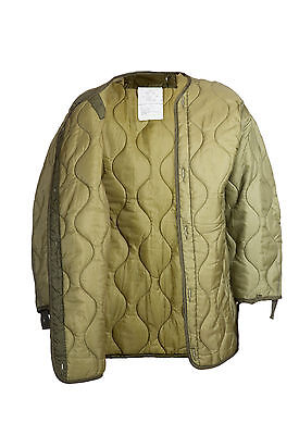 £29.90 • Buy USA FISHTAIL M65 PARKA Liner Genuine Military Quilted Used Olive Green Drab Med