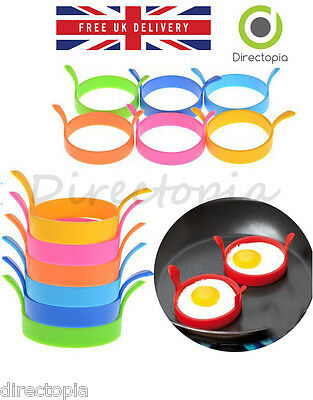 Silicone Round Ring Fried Egg Non Stick Kitchen Tool Egg Fry Rings Round Mould • 2.40£