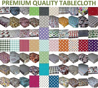 £6.89 • Buy Wipe Clean Tablecloth Wipeable Pvc Vinyl Oilcloth Table Cover Protector 1,2,3 M