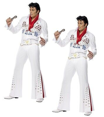 Elvis Presley American Eagle Costume 50s Fancy Dress Adult Mens Outfit • 68.99£