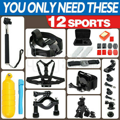 AU9.96 • Buy GoPro Hero Sports Accessories Pack Case Chest Head Floating Monopod 8/7/6/5/4/3