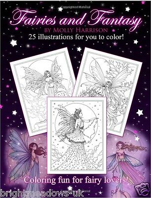 Magical Fairies Fantasy Adult Colouring Book Mystical Creatures Wings Celestial • 8.72£