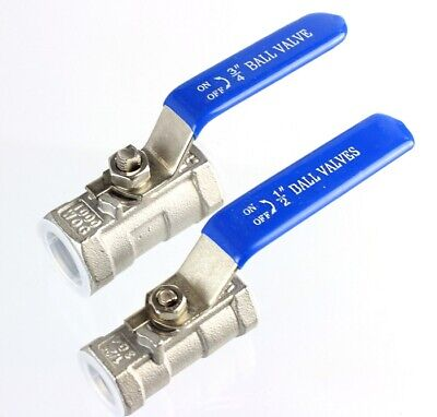 Ball Valve Bsp Nickel Plated Brass Water Oil & Gas Approved Iso9001 1/2  & 3/4  • 5£